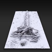 3D desert tree laying 02