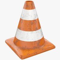 road cone 3D model