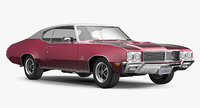 muscle car buick gs455 3d model
