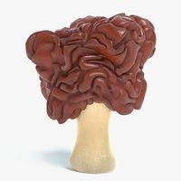 false morel mushroom 3D model