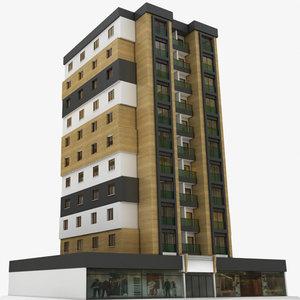 day modern building 4 3D