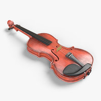 3D violin music instrument model