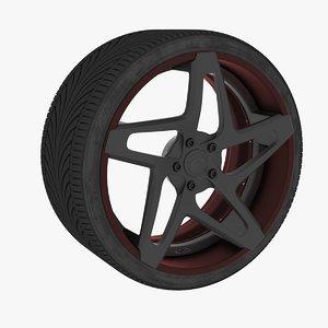 3D tire rim model