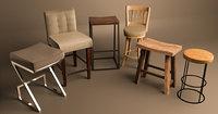 3D stools archviz