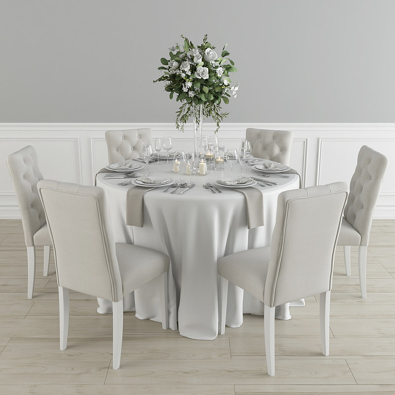 chairs table 3D