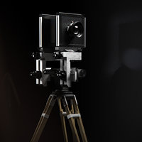 sinar 4x5 film camera 3D model