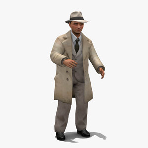 3D character detective model