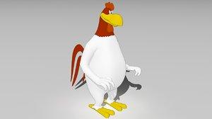 3D looney foghorn leghorn
