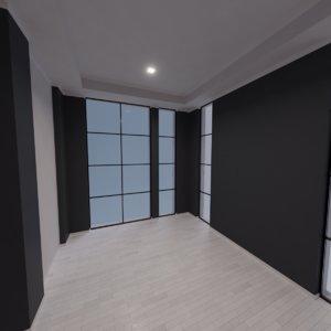 modern interior scene model