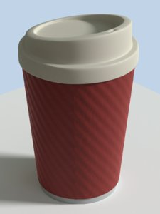 takeout coffee cup disposable 3D model