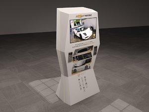 3D totem screen model