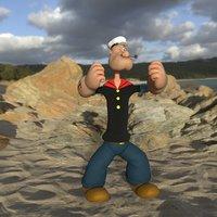 character popeye 3D