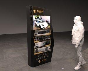 3D totem screen