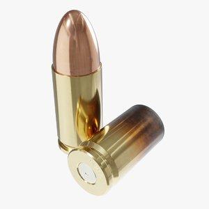 3D model 9x19mm cartridge 9 19