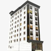 3D day modern building 1