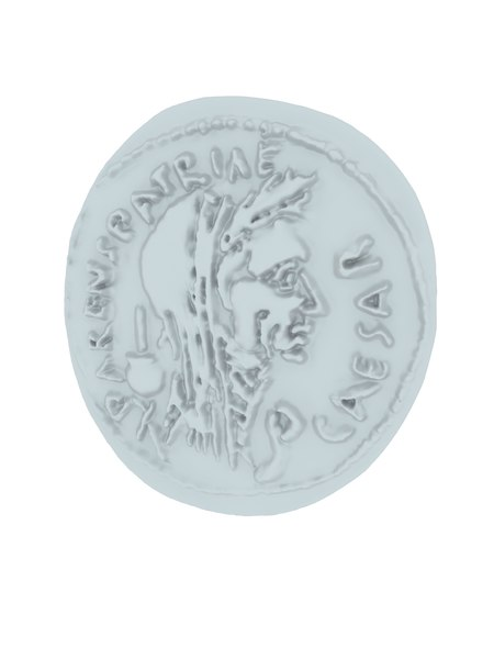 3D denarius coin model