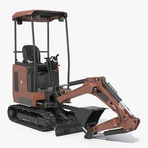 mini excavator generic 3D model