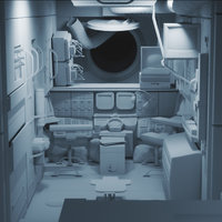 3D mir space station model