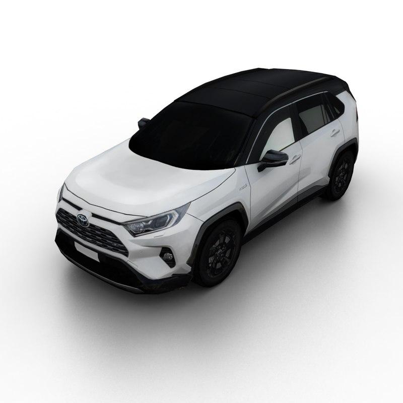 2019 Toyota Rav4: 2019 Toyota Rav4 Hybrid 3D Model