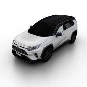 2019 toyota rav4 hybrid 3D model