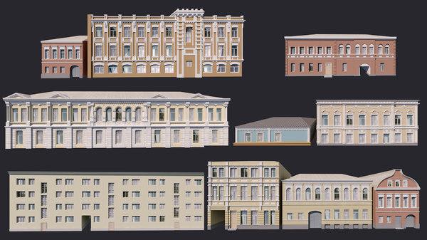 building facades 3D