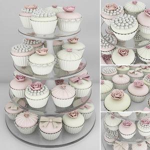 wedding cupcake stand 3D