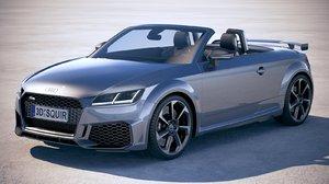 3D audi ttrs roadster model