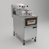 3D model pressure fryer