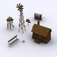 3D model wild west