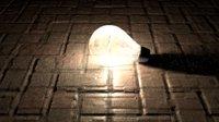 3D model light bulb floor