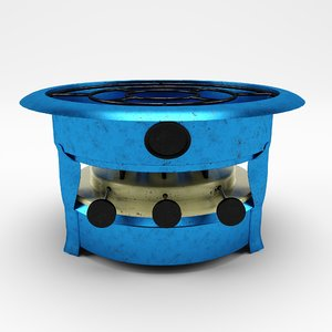 old traditional stove food 3D model