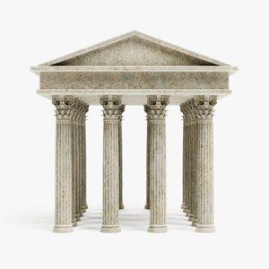 corinthian temple 3D
