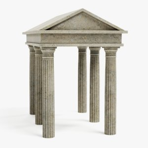 3D doric temple model