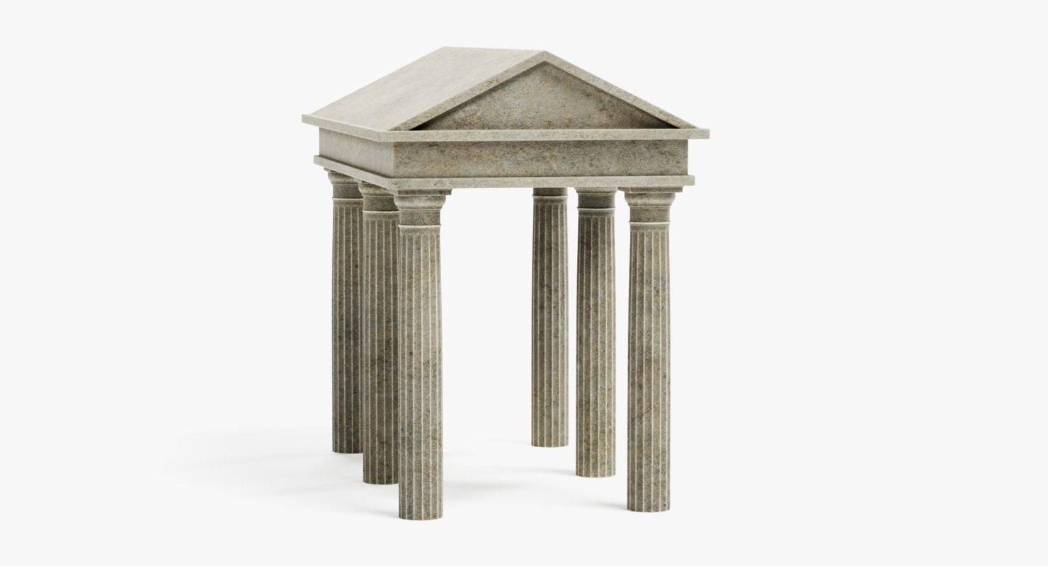 3D doric temple model