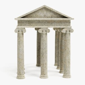 3D ionic temple