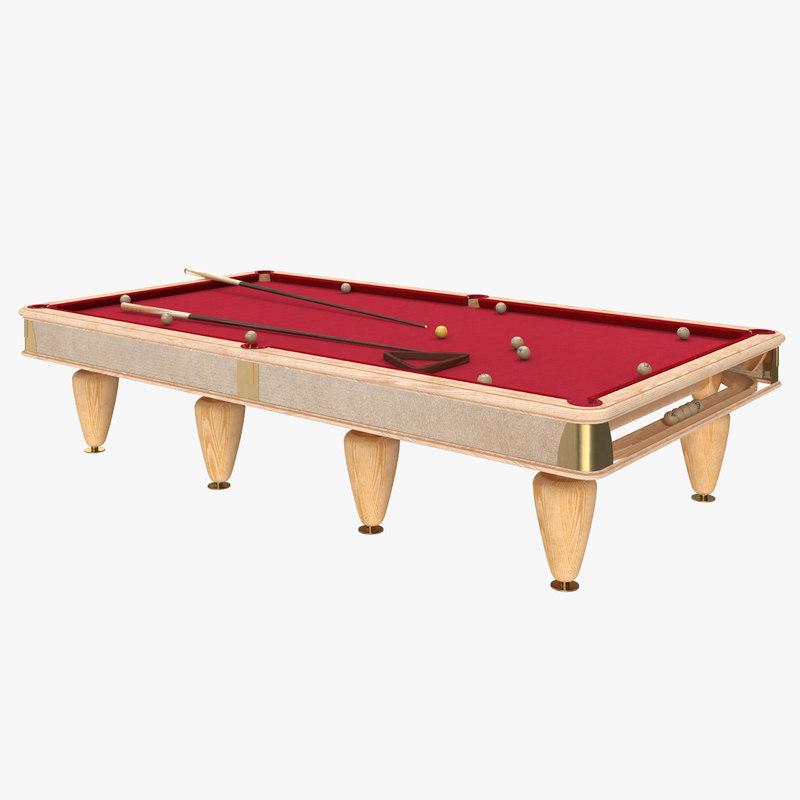 billiard table 3D