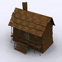 3D model wild west hut