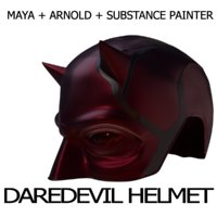 daredevil helmet marvel 3D model
