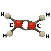 3D modeled ethylene molecular model