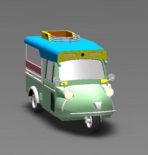 tuk 3 wheel frog 3D model