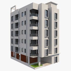 3D model building apartment