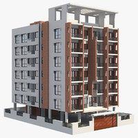 3D apartment building 27