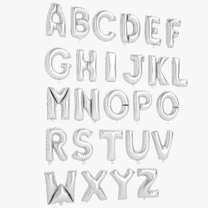 foil balloon letters model