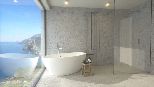 bathroom view bath sink 3D