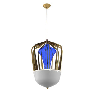 3D barovier toso robin chandelier