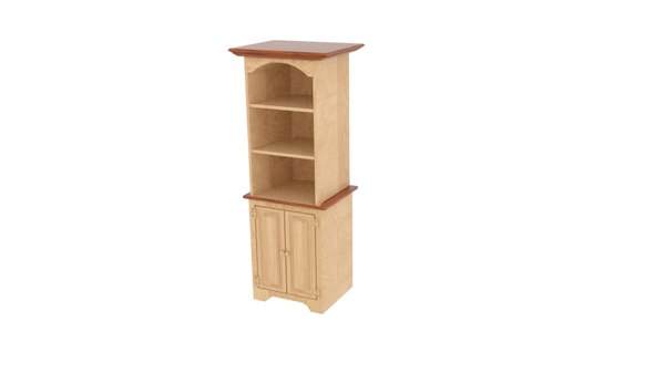 3D model pine small colonial cupboard