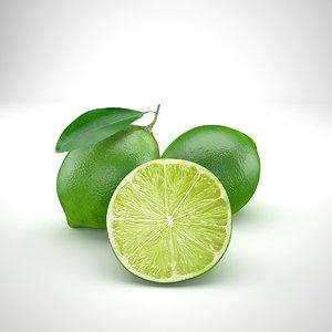 food fruit lime 3D model