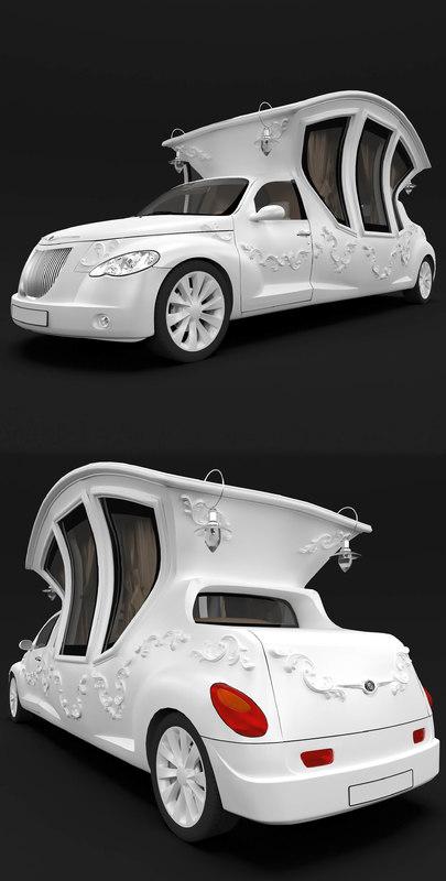 limousines carriages 3D model