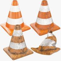 3D model road cones v1