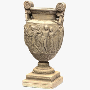3D model ancient greek roman vase
